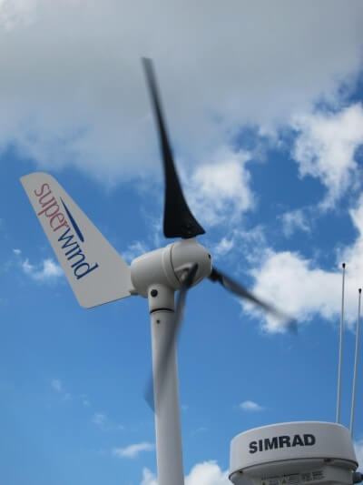 Our Superwind with the new blades in action