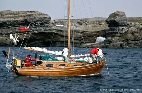 Alasdair's Virtue Sloop at Bear Island