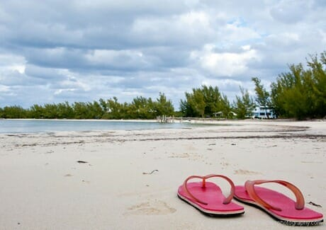 I really did not place these flip flops, honest. Coco Bay, Green Turtle Cay.