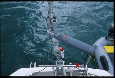We've met quite a few owners who have converted their vane to accept a drive from a simple, low cost autopilot. All swear that it works well, makes the gear simpler to use and less affected by shifting coastal winds - an advantage in correcting a recognised weakness of vane gears. Because the pilot is not driving any real weight, power consumption is low and reliability high. Peter warns that it's not a good idea to use this system for motoring, though, due to prop wash over the auxiliary rudder leading to premature wear and tear of bearings, and suggests that it is better to use a plumbed in autopilot for motoring, not least because there are no power consumption implications when the engine is running. Photo credit: Windpilot