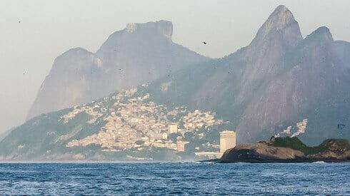 The mountains dominate Ipanema and Copacabana.