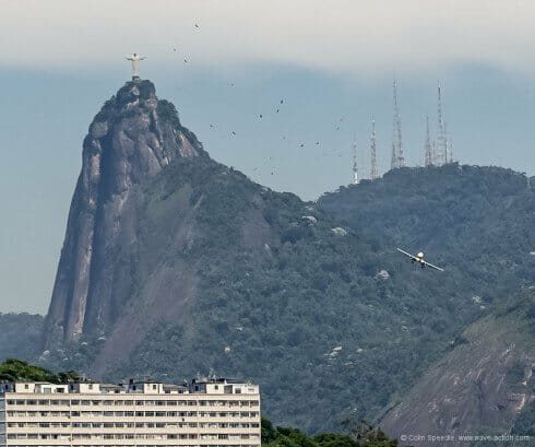 Christ the Redeemer looks down on the city.