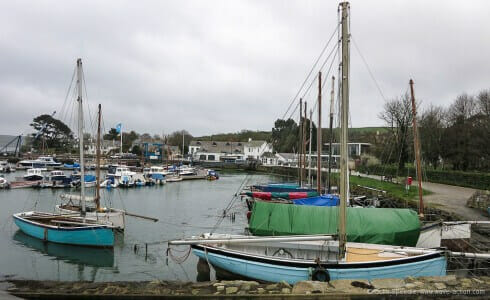 The Falmouth oyster fleet laid up in the off season.