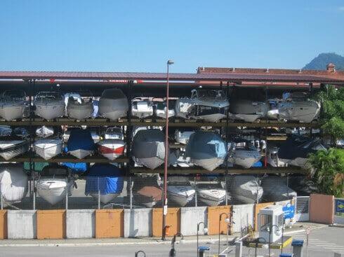Dry boat storage in Brazil