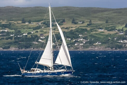 Force 7 in the Sound of Sleat – storming along