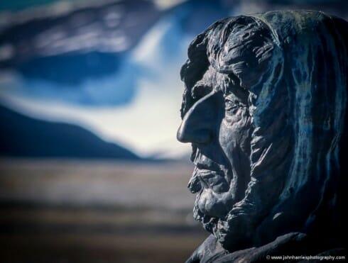 Bust of Roald Amundsen at Ny Ålesund, Svalbard