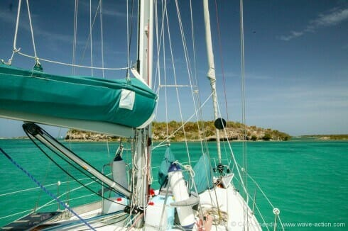 Anchored at Redhead Island, Antigua