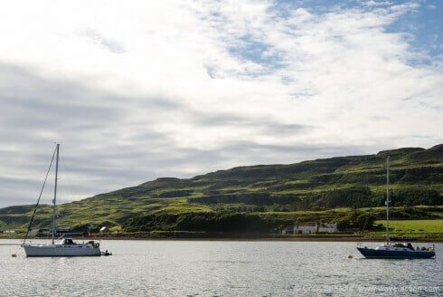 Moorings in Canna Harbour