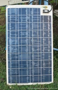 Delaminated Sunware solar panel.