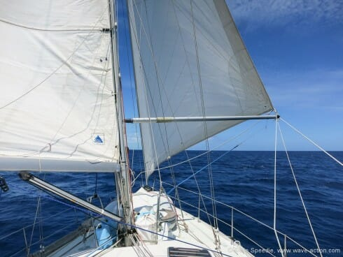 Running downwind with the pole out
