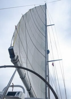 Nice sail shape after 30,000 miles.