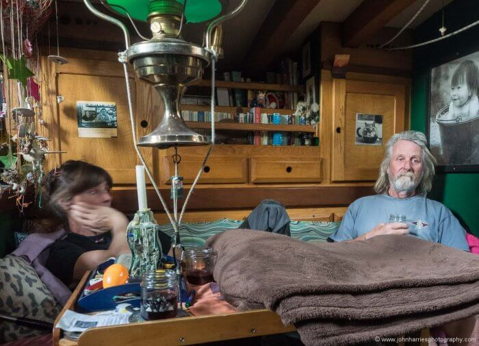 Mick and Bee at home.