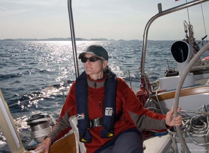 Steering a properly balanced sailboat up wind is one of sailing's greatest pleasures.