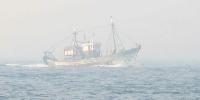Wooden Fishing Vessels make very poor radar targets.